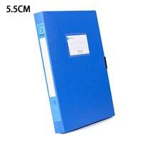 A4 portátil documento caixa de arquivo 3.5 cm/5.5 cm saco de armazenamento arquivos pasta de pouco peso organizador de negócios caixa de arquivo