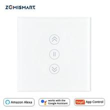 Ab perde anahtarı WiFi akıllı anahtarları Alexa Google ev ses Tuya akıllı yaşam APP kontrolü ile mavi aydınlatmalı isteğe bağlı
