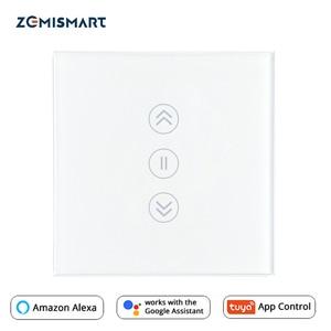 Image 1 - EU занавес переключатель Wi Fi умные выключатели Alexa Google Home голосовое Tuya Smart Life APP Управление с синей подсветкой по желанию