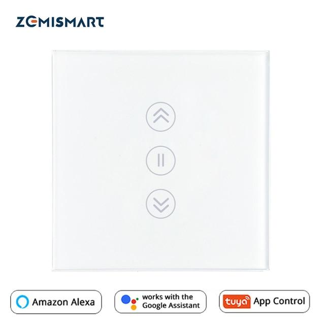 EU занавес переключатель Wi Fi умные выключатели Alexa Google Home голосовое Tuya Smart Life APP Управление с синей подсветкой по желанию