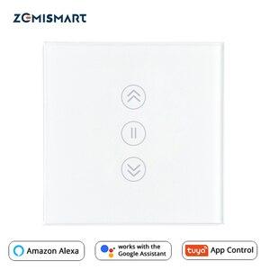 Image 1 - Ue interruptor de cortina wi fi inteligente interruptores alexa google casa voz tuya vida inteligente controle app com azul retroiluminado opcional