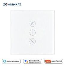האיחוד האירופי וילון מתג WiFi חכם מתגי Alexa Google בית קול Tuya חכם חיים APP בקרת עם כחול תאורה אחורית אופציונלי