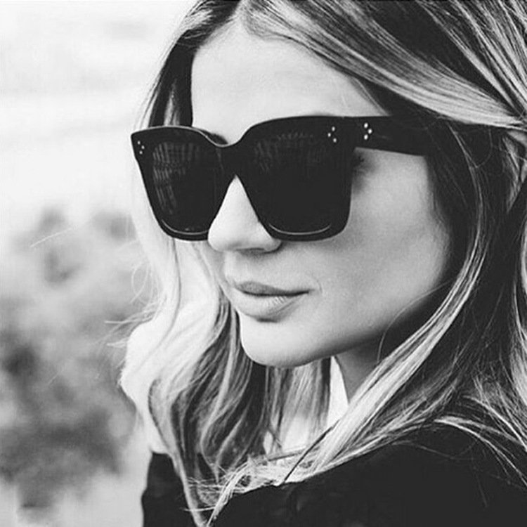 Retro-Mitten Sunglasses Fashion Large Frame Sunglasses Leopard-print Colored Glasses For Outdoor Ladies