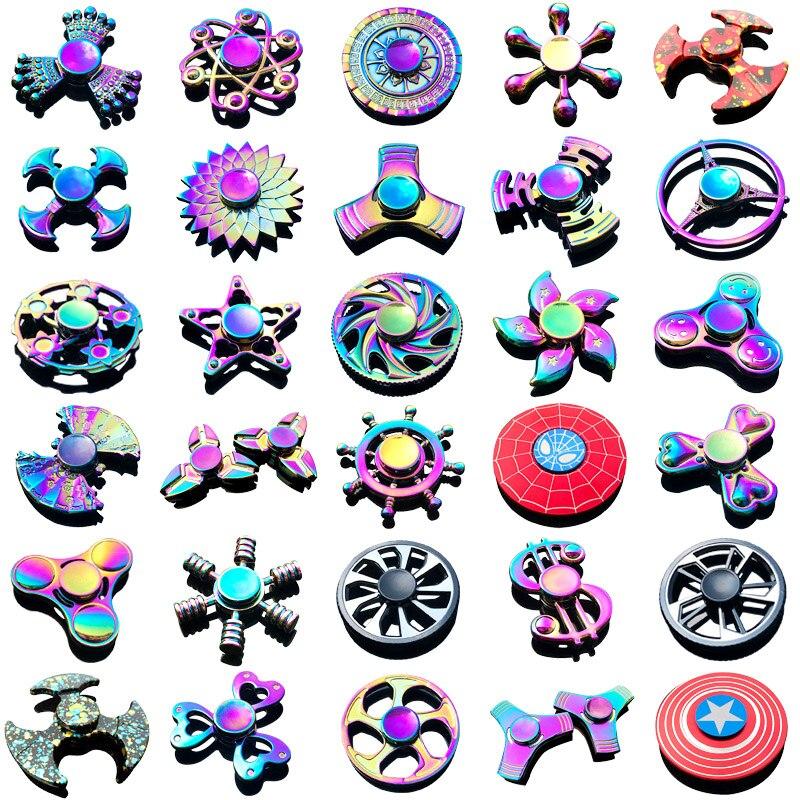 Hot Fidget Spinner Adults Antistress Gyroscope Fingertip Gyro Spinning Top Stress Wheel Hand Spiner Metal Kids Toys For Children