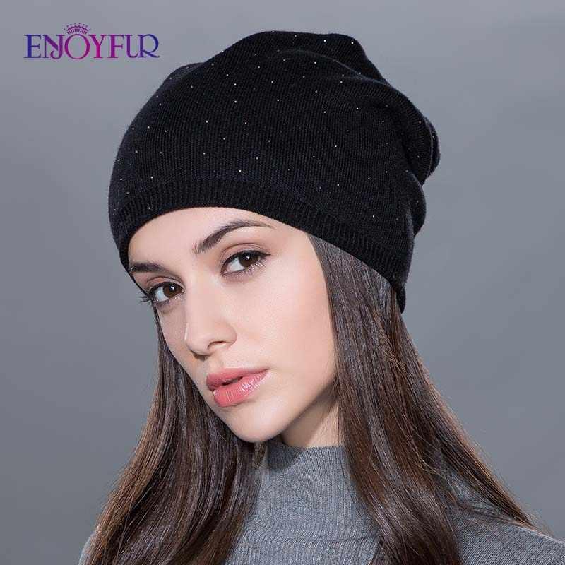 Kadın kış şapka örme yün kasketleri kadın moda skullies rahat açık kayak kapaklar kalın sıcak şapka kadınlar için