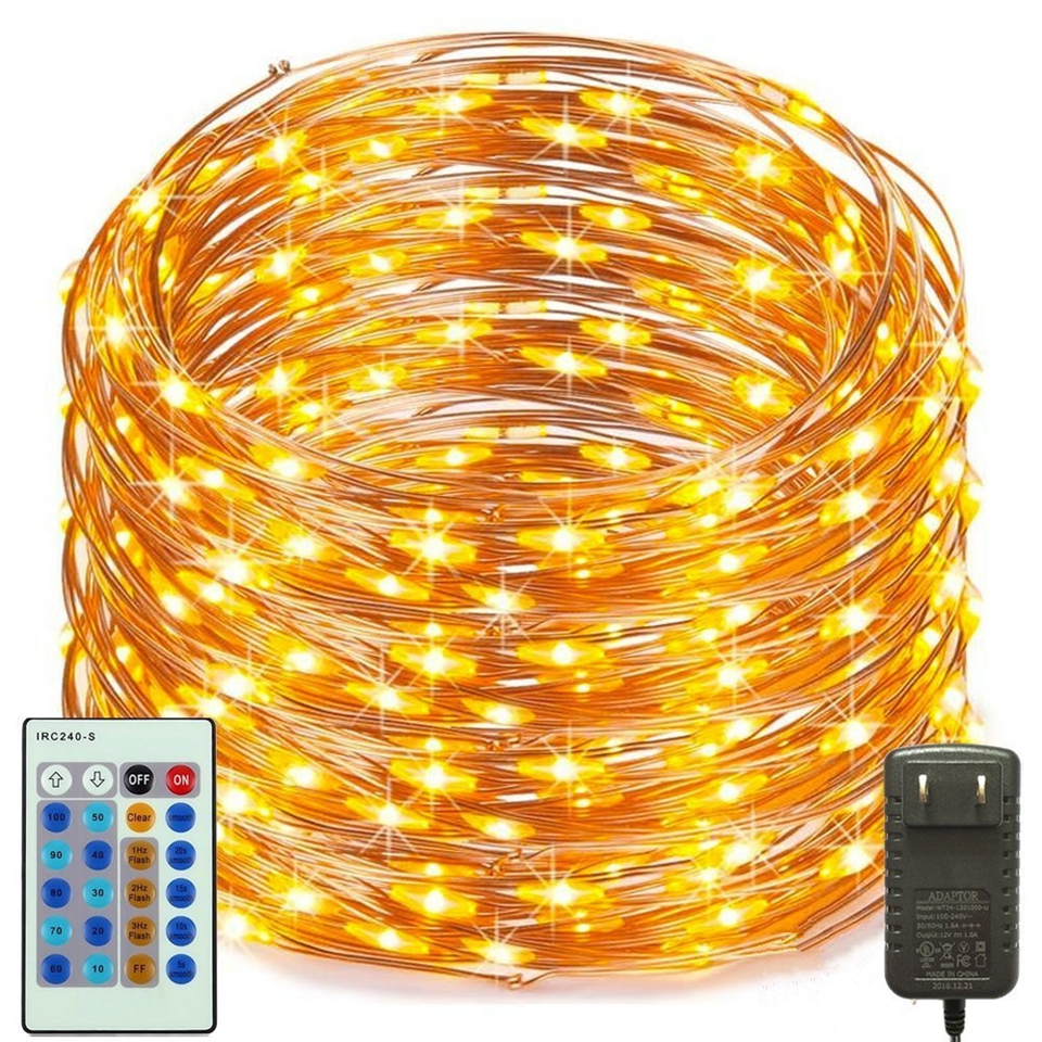 The Longest LED String Lights 10m 20m 30m 50m  Street Garland Light Outdoor Christmas Fairy Lights Starry Light With Adapter