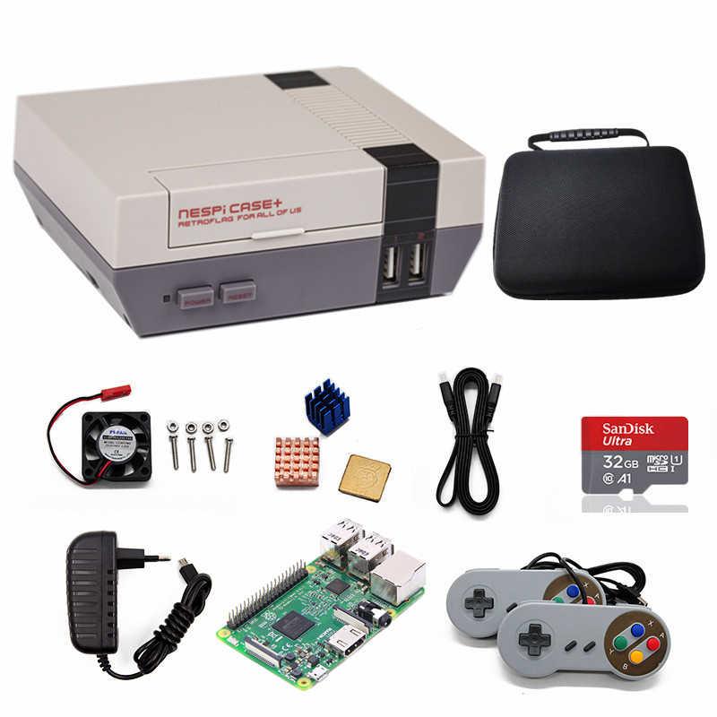 Originale Retroflag SUPERPI Megapi Caso Raspberry Pi 3 Modello B Console di Gioco Divertente Con TV Video Giocatore del Gioco e 10000 + giochi
