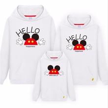 Толстовки с Микки-Маусом «Мама и я» HELLO свитер с принтом «Минни» для мамы и дочки, папы и сына, рубашка для всей семьи