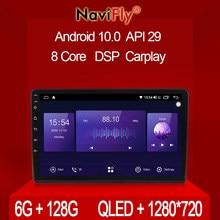 Navifly 7862 6gb + 128gb qled 1280*720 android 10.0 universal gps estéreo mapa para volkswagen nissan hyundai kia toyota honda