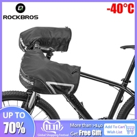 ROCKBROS Bar Mitts Snowmobile/ATV/Dirt Bike Mitts Cycling Thermal Fleece Lining MTB Handlebar Windproof Winter Gloves Mittens