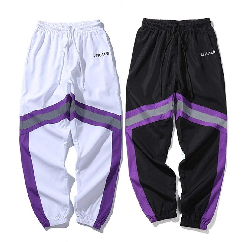 Image 5 - 2019 Hip Hip Men Jogger Pant 3M Reflective Harajuku Baggy  Sweatpant Streetwear Track Pants Sweat Trousers Summer Thin Harem Pant
