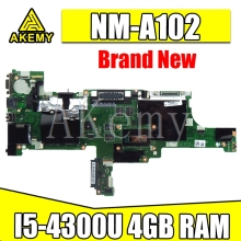 I5-4300/4200 RAM 4G NM-A102 placa base de Computadora Portátil para For Lenovo Thinkpad T440 placa base FRU:00HM171 00HM165 placa base 100% prueba de trabajo