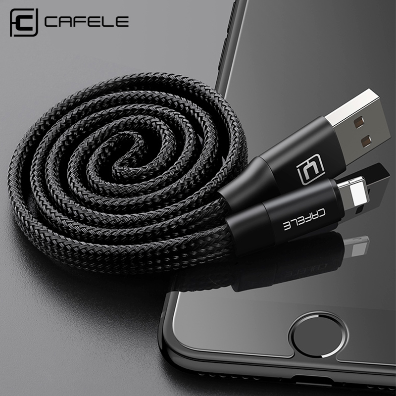 CAFELE USB Cable for iphone X XS MAX XR 8 7 6S 6 Plus 5S USB Charging Cable Data Sync Phone Cable for iphone IOS 11 10 9|usb cable for iphone|cable forcable data - AliExpress