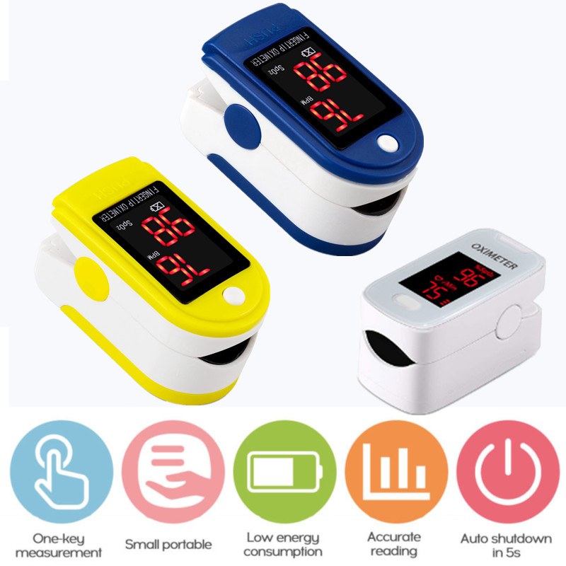 Thermometer Digital Pulse Oximeter LED Oximetro Blood Oxygen Heart Rate Monitor SpO2 Health Monitors De Dedo Oximetr