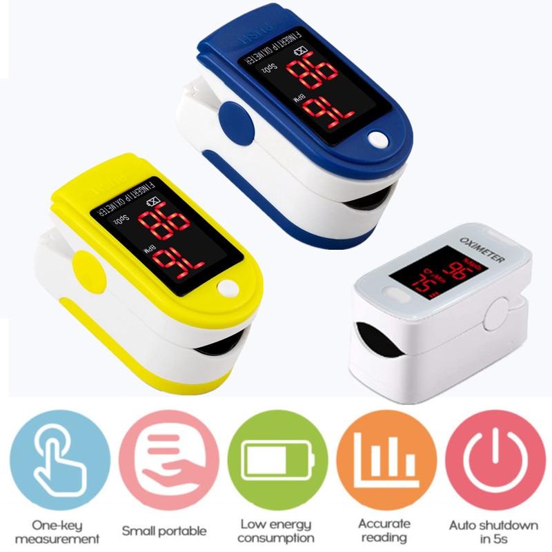 Thermometer Digital Pulse Oximeter LED Oximetro Blood Oxygen Heart Rate Monitor SpO2 Health Monitors De Dedo Oximetr