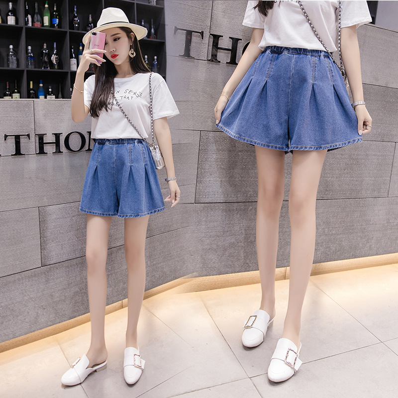 Jeans Shorts Women's 2020 Spring And Summer Large Size Dress 200 Of Fat Mm High-waisted Students Culottes