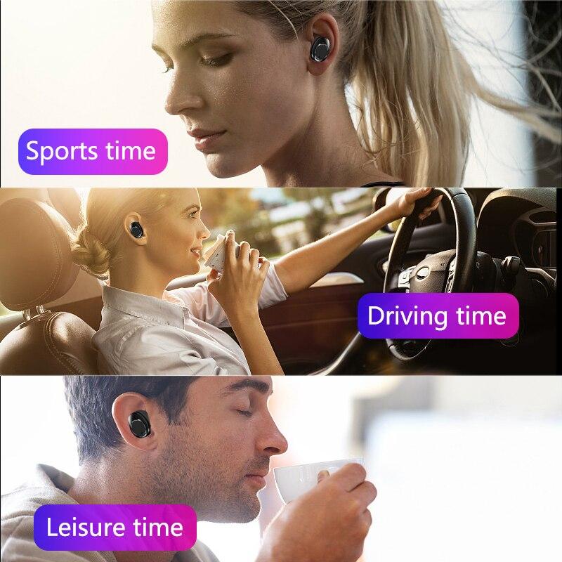 Image 5 - TWS X13 бинауральные Bluetooth 5,0 наушники с сенсорным управлением истинные беспроводные наушники IPX7 водонепроницаемые наушники с шумоподавлением 7h Play-in Наушники и гарнитуры from Бытовая электроника