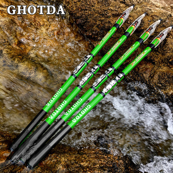 GHOTDA Fishing Rod Spinning Telescopic 2.7/3.6/4.5/5.4/6.3M