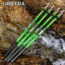 GHOTDA Rock Fishing Rod Carbon Fiber Spinning Telescopic Fishing Rods 2.7/3.6/4.5/5.4/6.3M