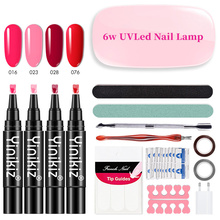 Nail Set UV LED Lamp Dryer With Nail Gel Polish Kit Soak Off Manicure Set Gel Nail Polish For Nail Art Tools Kits gel polish nail art tools kits 36w uv led nail dryer lamps uv gel polish polish gel manicure machine set nail file remover tools