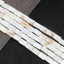 Nuovo 10*15MM rettangolo naturale perline conchiglia d'acqua dolce circa 15