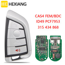 Él Xiang coche llave de control remoto para BMW 3 5 7 Serie X3 X4 X5 X6 F45 F46 F10 F11 F07 F18 F15 F85 2007-2018 PCF7945 PCF7953 sin llave ir