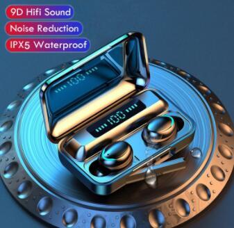 Наушники-вкладыши TWS с F9-6 Bluetooth наушники V5.0 стерео Беспроводной гарнитура спортивные Водонепроницаемый наушники мини сенсорный Управление ...