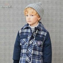Tops Outerwear Padded-Coat Patchwork Dave Bella Kids Boys Winter Fashion Children Letter