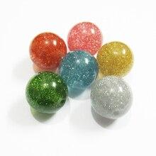 Großhandel 12mm 480 teile/beutel, 16mm 200 teile/beutel, 20mm 100pcs/tasche Chunky Runde Glitter Perlen/DIY Schmuck Finden/Hand Made Perlen