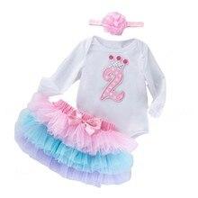 Платье-пачка для дня рожденья юбка комплект одежды с платьем 2nd комбинезон на день рождения, юбка-пачка с повязкой на голову для маленьких де...
