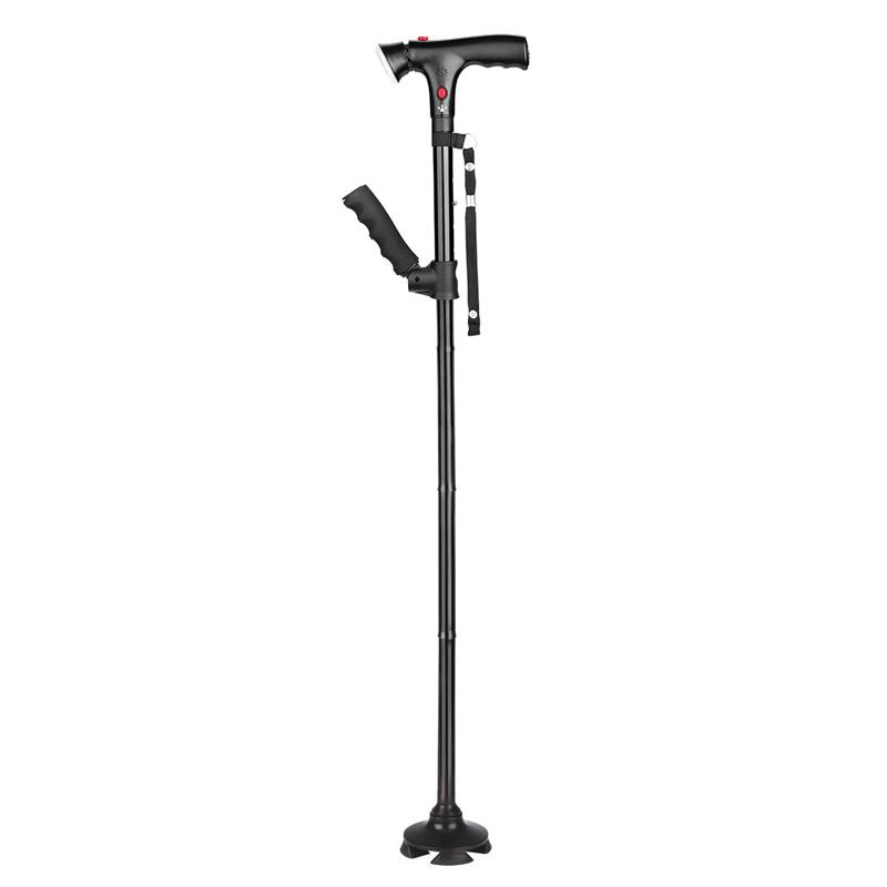 Elderly Walking Stick S-Afety Grip Crutches Telescopic Canes Crutch Staff Grip Hiking Walk Mens Posture Cane Hiking Poles Crutch