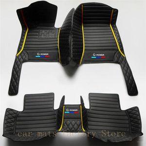 Two-color car floor mats for bmw g30 F10 F11 F15 F16 F20 F25 F30 F34 E60 E70 E90 1 3 4 5 7 Series GT X1 X3 X4 X5 X6 car mats