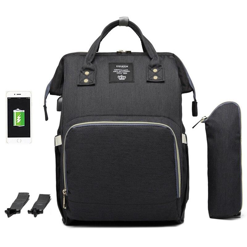 Image 2 - Large Capacity Diaper Bag Backpack Waterproof Maternity Bag Baby Diaper Bags With USB Interface Mummy Travel Bag For StrollerDiaper Bags   -