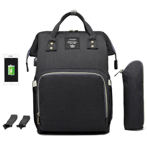 Image 2 - 大容量おむつバッグバックパック防水産科バッグベビーおむつバッグ USB インタフェースミイラのためのベビーカー