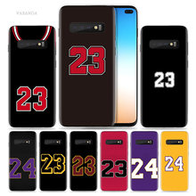 Basketball Number 23 24 Case for Samsung Galaxy S10 5G S10e S8 S9 S7 Note 8 9 10 J4 J6 Plus J5 J8 2018 J3 Silicone Phone Cover(China)