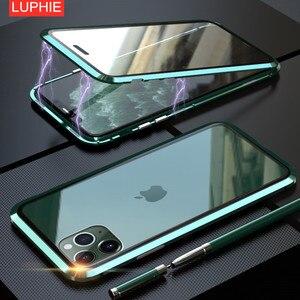 Image 1 - Voor Iphone 11 Pro 2019 Case Dubbelzijdig Gehard Glas Magnetische Adsorptie Full Body Anti Explosie Cover Voor iphone 11 Pro Max
