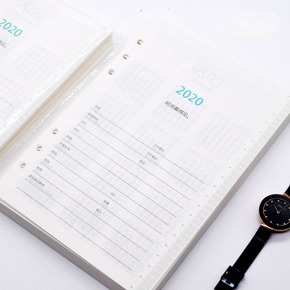 2020 Agenda A5 Diary Notebook Simple Schedule Book  Student Diary Book  School Office Supplies 14.2*20.6cm