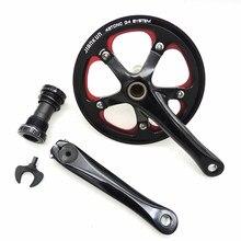 Jiankun 46 t bicicleta de estrada pedaleira oco integrado placa dente manivela liga alumínio cnc g4 68mm
