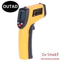 Termómetro infrarrojo IR sin contacto de mano, pirómetro láser Digital LCD, medidor de temperatura de superficie, pistola, cámara C F, retroiluminación