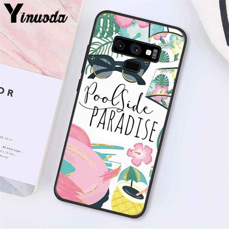 Yinuoda Merhaba Yaz tatil seyahat kız Telefon samsung kılıfı Galaxy A50 S10 S9 Artı Note9 8 Note7 5 4 3