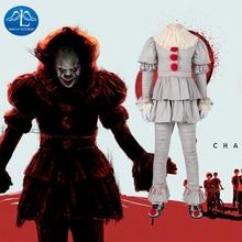 Pennywise Costume Stephen Kings Cosplay Costume Da Clown Pennywise Joker costume suit Costumi di Halloween per Gli Uomini Custom made