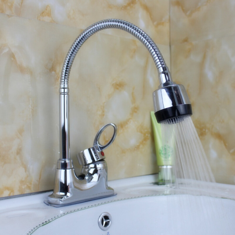 Faucet Nozzle Sprayer  Rotation Tap 360 Swivel Sprayer Chromed Aerator Tap Sink Mixer Stainless Steel Water Saving Tap