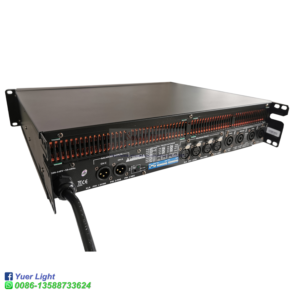 Image 3 - 2020 Lab Gruppen Professional Popular High Performance FP6000Q Line Array Switch Amplifier 4x700Watts 4 Channel PA Speakers-in Stage Lighting Effect from Lights & Lighting