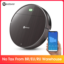NEATSVOR V392 Brown Robot Vacuum Cleaner Sweep & Wet Mop For Floor APP Control Map navigation Planned Auto Charge Robot 1800PA