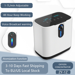 1-7L/min 48Hours Portable Oxygen Concentrator Oxygen Generator Making Machine Without Battery Air Purifier AC 220V/110V ZY-1Z