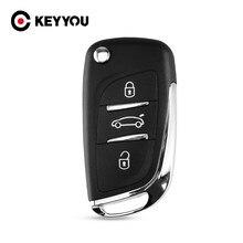 KEYYOU modificado de entrada a control remoto estuche para mando a distancia caso 3 botones para CITROEN C2 C3 C4 C5 C6 C8 envío gratis