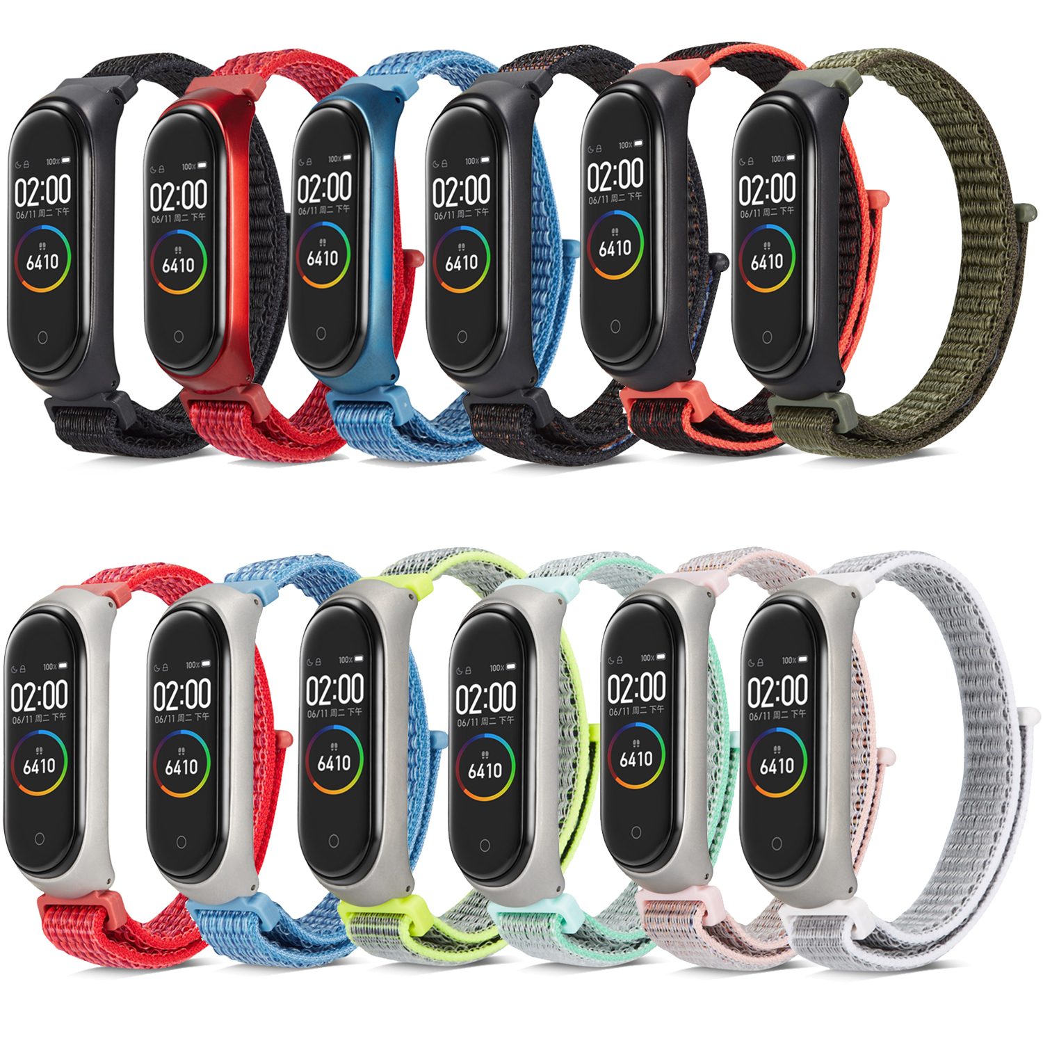 Image 2 - Nylon loop replaceable Bracelet for Xiaomi Mi band 3 Sports Wristband Breathable Strap for Xiaomi Miband 4 smart watch Accessori-in Smart Accessories from Consumer Electronics
