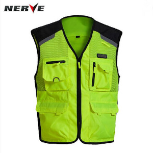Image 3 - 2020 New  Fashion Germany Motorcycle Riding Fluorescent Safety Vest Knight Reflective Vest suit protector of 3D Mesh 600D Oxford