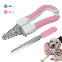 1pcs Stainless Steel Pet Nailclippers Supplies Cat Dog Nails Clippers Trimmer Nail Professional Grooming Scissors Cutter D40