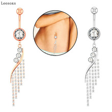Leosoxs 1piece Hot sale new tassel belly button ring nail piercing jewelry hot
